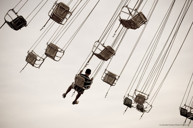 My husband on a swing ride at The Big E.