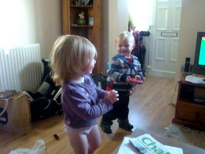Isla teaches Joe some dance moves