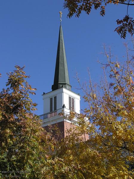Steeple taken from courtyard of First Presbyterian Church - Visalia, CA