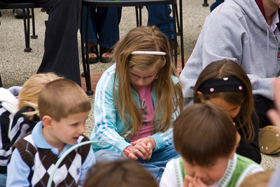 Time to Pray. Photos from Children's Easter Egg hunt at First Pres Church, Visalia, CA    4-11-2009