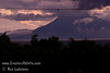 Guatemala Mission Trip - Day 2 -  Saturday, November 10, 2007 <br /> Toliman Volcano as night falls.