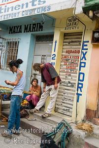 Guatemala Mission Trip - Day 2 -  Saturday, November 10, 2007  Sights along main market street in Panajachel