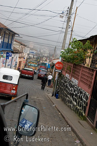 Guatemala Mission Trip - Day 2 -  Saturday, November 10, 2007 Driving down main street to Panajachel in Solola