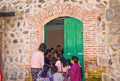 Guatemala Mission Trip - Day 3 -  Sunday, November 11, 2007  Door from courtyard back into the church.