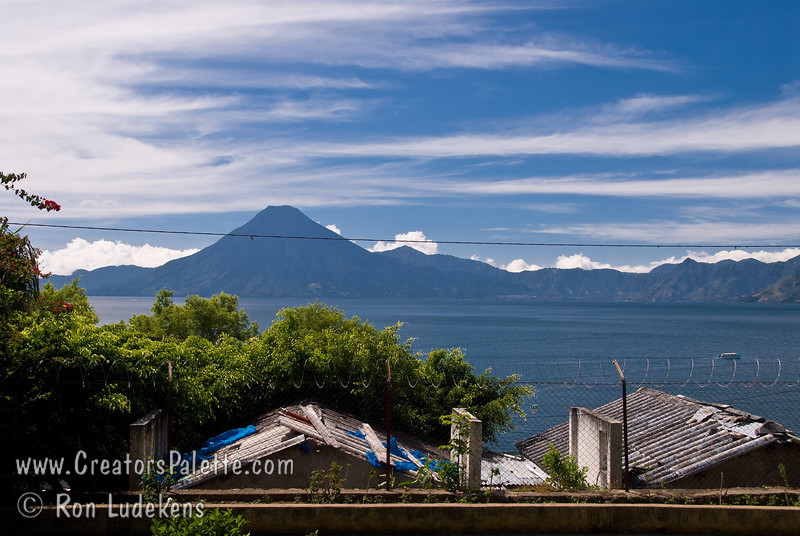 Guatemala Mission Trip - Day 3 -  Sunday, November 11, 2007 <br /> Lake Atitlan and San Pedro Volcano viewed from our compound at Buenas-Nuevas.