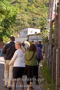 Guatemala Mission Trip - Day 3 -  Sunday, November 11, 2007 Walking to church in Panajachel.