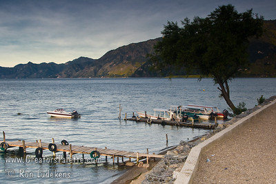 Guatemala Mission Trip - Day 3 -  Sunday, November 11, 2007 Early Morning along shore of Lake Atitlan in Panajachel.   This is as much of a marina as you will find.