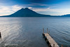 Guatemala Mission Trip - Day 3 -  Sunday, November 11, 2007<br /> Sunrise along shore of Lake Atitlan in Panajachel.   Two volcanoes - Toliman in front with Atitlan behind it.