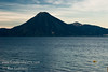 Guatemala Mission Trip - Day 3 -  Sunday, November 11, 2007<br /> Sunrise along shore of Lake Atitlan in Panajachel.   San Pedro Volcano across the lake.  City of San Pedro to right of volcano.