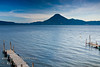 Guatemala Mission Trip - Day 3 -  Sunday, November 11, 2007<br /> Sunrise along shore of Lake Atitlan in Panajachel.   San Pedro Volcano across the lake.
