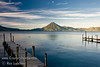Guatemala Mission Trip - Day 4 - Monday, November 12, 2007<br /> Sunrise and early morning photo of Lake Atitlan at Panajachel.  San Pedro Volcano in background.