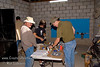 Guatemala Mission Trip - Day 4 - Monday, November 12, 2007<br /> Jordan and Dave assembling the first filter (Trash filter) components.