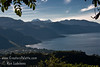 Guatemala Mission Trip - Day 4 - Monday, November 12, 2007<br /> We stopped at a lookout above Panajachel to view Lake Atitlan and surrounding volcanoes.  Fuego Volcano is smoking and to the right of the taller Acatenango Volcano.