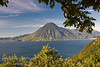 Guatemala Mission Trip - Day 4 - Monday, November 12, 2007<br /> We stopped at a lookout above Panajachel to view Lake Atitlan and surrounding volcanoes.  San Pedro Volcano overlooking city of San Pedro to its right.
