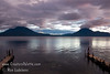 Guatemala Mission Trip - Day 5 -  Tuesday, November 13, 2007<br /> Sunset over Lake Atitlan from Panajachel, Guatemala.   Toliman Volcano with Atitlan Volcano behind it on left, San Pedro Volcano on right.