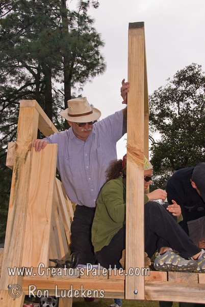 Guatemala Mission Trip - Day 5 -  Tuesday, November 13, 2007 <br /> Sides going up on playground set.