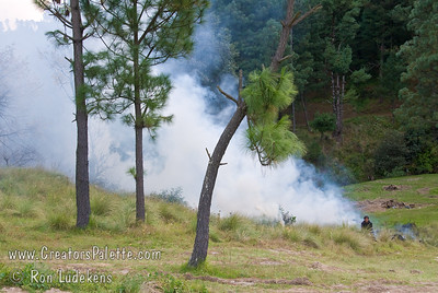 Guatemala Mission Trip - Day 5 -  Tuesday, November 13, 2007  Burning another section of weeds at Centennial Camp.