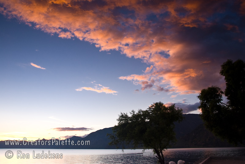 Guatemala Mission Trip - Day 6 - Wednesday, November 14, 2007<br /> Cloud photo from sunset over Lake Atitlan from Panajachel, Guatemala.