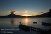 Guatemala Mission Trip - Day 6 - Wednesday, November 14, 2007<br /> Sunset over Lake Atitlan from Panajachel, Guatemala.   San Pedro Volcano seen in background.