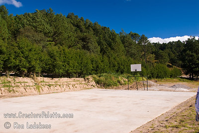 Guatemala Mission Trip - Day 6 - Wednesday, November 14, 2007 Basketball court at Centennial Camp.  It was recently completed and locals will paint line on it very soon.