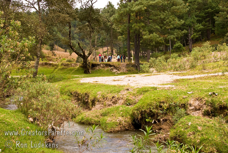 Guatemala Mission Trip - Day 7 - Thursday, November 15, 2007.  Dedication Day.  <br /> Views of creek running through camp.