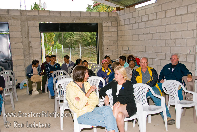 Guatemala Mission Trip - Day 7 - Thursday, November 15, 2007.  Dedication Day.<br /> Full demonstration of Clean Water System to first of three groups.  This group was made up mostly of pastors.
