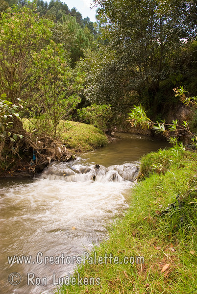 Guatemala Mission Trip - Day 7 - Thursday, November 15, 2007.  Dedication Day.  <br /> Views of creek running through camp.