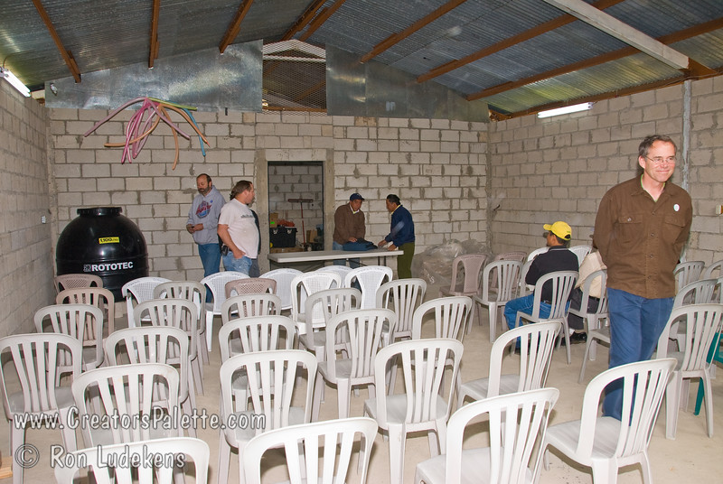 Guatemala Mission Trip - Day 7 - Thursday, November 15, 2007.  Dedication Day. <br /> Garage set up - ready for dedication.