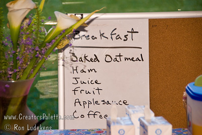 Guatemala Mission Trip - Day 7 - Thursday, November 15, 2007 Maria Coker had a menu posted for every meal at Buenas-Nuevas.  This was one of many favorite meals.