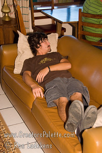 Guatemala Mission Trip - Day 7 - Thursday, November 15, 2007  A familiar pose for Jordan when he wasn't working.