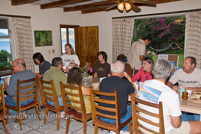Guatemala Mission Trip - Day 7 - Thursday, November 15, 2007 Team members eating another delicious breakfast at our compound at Buenas-Nuevas.   Thank you Maria!