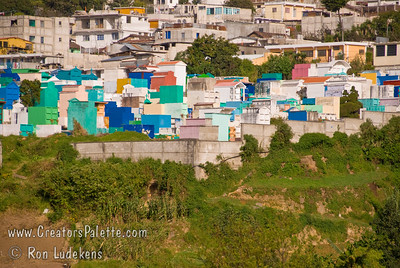 Guatemala Mission Trip - Day 7 - Thursday, November 15, 2007 The cemetary and color crypts in Solola, Guatemala.