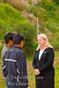 Guatemala Mission Trip - Day 7 - Thursday, November 15, 2007.  Dedication Day. <br /> Sally talking to 2 men.
