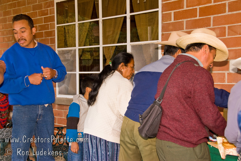 Guatemala Mission Trip - Day 7 - Thursday, November 15, 2007.  Dedication Day.<br /> Everyone was invited to the Coker's porch for cookies, coffee and punch.