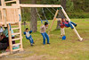 Guatemala Mission Trip - Day 7 - Thursday, November 15, 2007.  Dedication Day.  The early arrivals from pastor's families already found the playgound equipment.