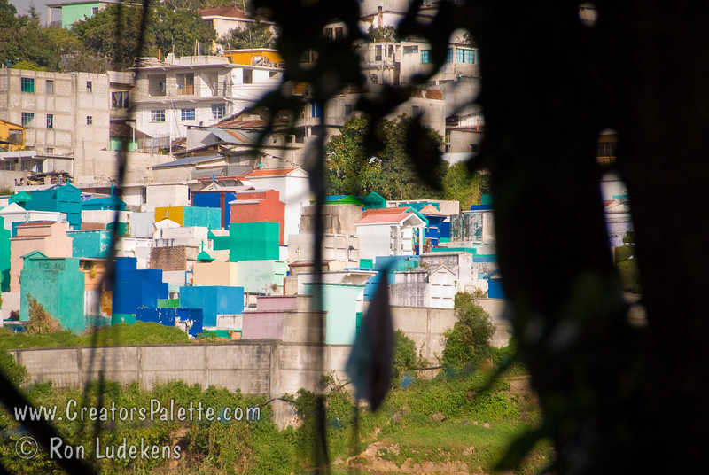 Guatemala Mission Trip - Day 7 - Thursday, November 15, 2007<br /> The cemetary and color crypts in Solola, Guatemala.