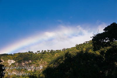 Guatemala Mission Trip - Day 7 - Thursday, November 15, 2007 Another rainbow was visible above the hills over Solola on our way to the camp.