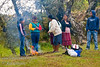 Guatemala Mission Trip - Day 7 - Thursday, November 15, 2007.  Dedication Day.<br /> Pastors wive getting cooking fire ready to make their lunch meal.