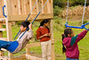 Guatemala Mission Trip - Day 7 - Thursday, November 15, 2007.  Dedication Day. <br /> Children at play in the new playground equipment.