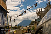 Guatemala Mission Trip - Day 7 - Thursday, November 15, 2007<br /> Looking down narrow Solola street at volcano across lake