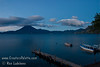 Guatemala Mission Trip - Day 7 - Thursday, November 15, 2007<br /> Sunrise on Lake Atitlan in Panajachel, Guatemala.   San Pedro Volcano on far shore.