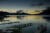 Guatemala Mission Trip - Day 7 - Thursday, November 15, 2007<br /> Sunrise on Lake Atitlan in Panajachel, Guatemala.   Flank of Toliman Volcano on right.