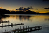 Guatemala Mission Trip - Day 7 - Thursday, November 15, 2007<br /> Sunrise on Lake Atitlan in Panajachel, Guatemala.