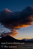 Guatemala Mission Trip - Day 7 - Thursday, November 15, 2007<br /> Sunset over Lake Atitlan from Panajachel, Guatemala.   Toliman Volcano with Atitlan Volcano behind it.