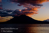 Guatemala Mission Trip - Day 7 - Thursday, November 15, 2007<br /> Sunset over Lake Atitlan from Panajachel, Guatemala.   Toliman Volcano with Atitlan Volcano behind it.