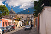 Guatemala Mission Trip - Day 8 - Friday, November 16, 2007<br /> Looking south down 1st Ave Sur at the Church and Convent ruins of San Francisco.  It is also the burial place of Friar Hermano Pedro - the beatified 17th-century monk.