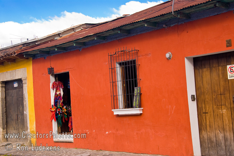 Guatemala Mission Trip - Day 8 - Friday, November 16, 2007<br /> I love the colors of the walls and doors.  Antigua Guatemala.