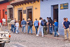 Guatemala Mission Trip - Day 8 - Friday, November 16, 2007   <br /> Team after lunch walking toward Jade Factory.