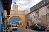 Guatemala Mission Trip - Day 8 - Friday, November 16, 2007<br /> Photo taken while walking down Calle del Arco towards Templo La Merced.   This monumental arch was built as a passageway between the monastery and adjoining school. The buildings were constructed to accommodate an increase in religious followers during the 17th century.  Church and convent La Merced is at the end of the street.  Right side is Convent of Santa Catalina Martin which is now partially restored to a hotel.  Antigua Guatemala.