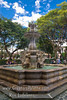 Guatemala Mission Trip - Day 8 - Friday, November 16, 2007<br /> Fountain and statue in Central Plaza - Antigua Guatemala.